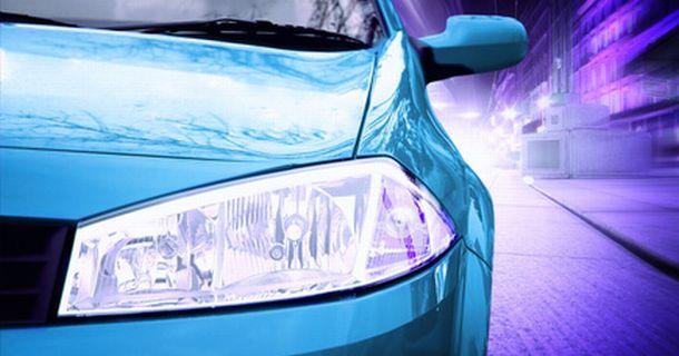 Pink Sport Car - Front side - baner